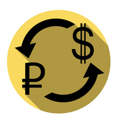 Currency exchange sign rouble and us dollar vector