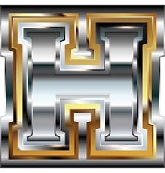 Fancy font Letter H vector image