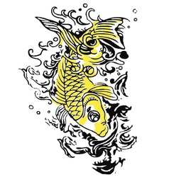 fish tattoo vector image