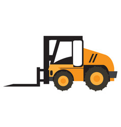 Forklift vehicle icon vector