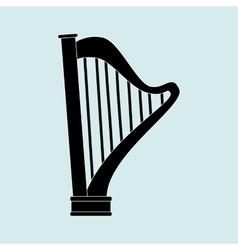 harp isolated design vector image vector image