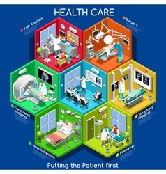 Healthcare 01 cells isometric vector