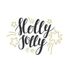 Holly jolly - hand drawn design elements perfect vector