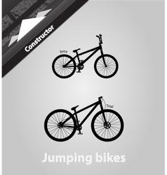 Jumping bikes vector