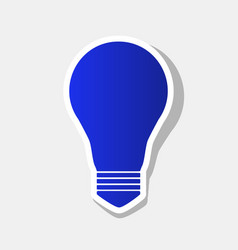 Light lamp sign new year bluish icon with vector