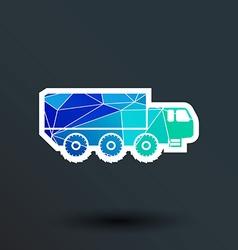Military truck icon button logo symbol concept vector