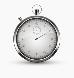 modern stopwatch icon on white background vector image vector image