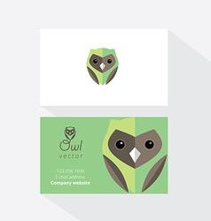 Owl document template vector
