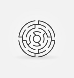 round labyrinth icon vector image vector image