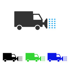 Street washing car flat icon vector