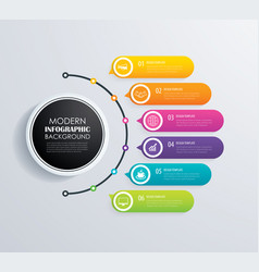 timeline 6 infographic design and marketing vector image vector image