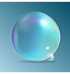 Transparent Bubbles on Dark Blue Background vector image
