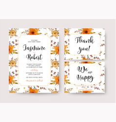 wedding invitation invite thank you card vector image vector image