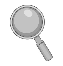 Magnifier icon gray monochrome style vector image