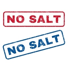 No salt rubber stamps vector