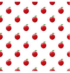 Fresh red apple pattern vector