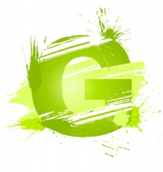 Letter g background vector
