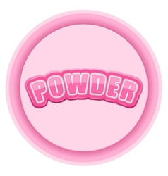 Label for powder bright premium design vector