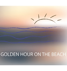 Golden hour blur background vector