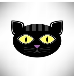 Head cat icon vector