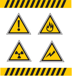 Hazard advise symbols vector