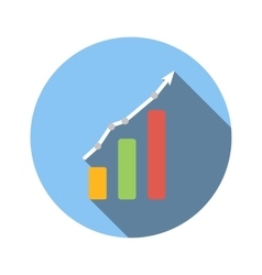 Graph chart flat icon vector image