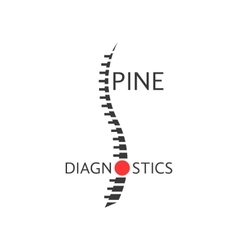 Spine diagnostics logotype with pain sign vector