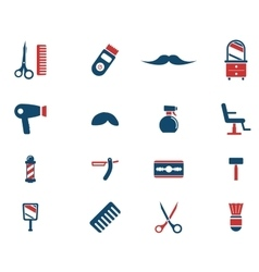 Barbershop simply icons vector