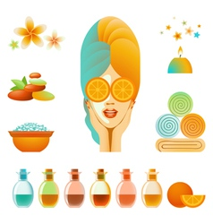 Spa accessory set vector