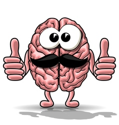 Cartoon brain vector