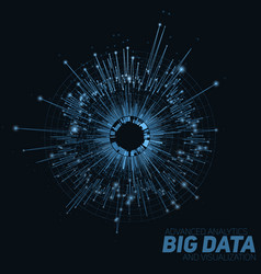 abstract blue round big data vector image