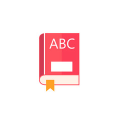 book flat icon education and school element vector image vector image