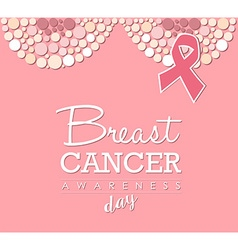 Breast cancer awareness day pink design vector image vector image