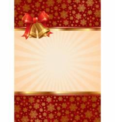 Christmas hand bells vector image vector image