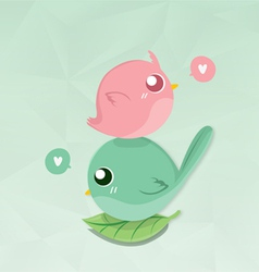 Couples bird mini vector