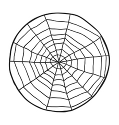 Doodle spiderweb isolated on white background vector image vector image