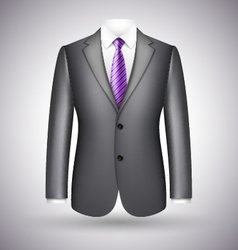 elegant business suit vector image vector image