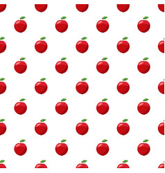 Fresh red apple pattern vector