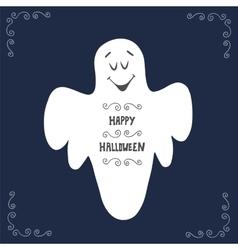 Halloween ghost poster design vector image