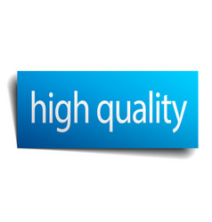 High quality blue paper sign isolated on white vector