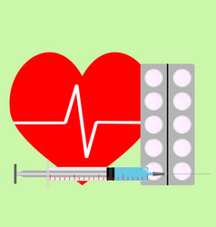 medicine for stimulation of heart vector image vector image