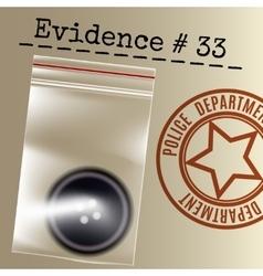 Police case evidence vector