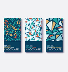 set of chocolate bar package designs with vector image vector image