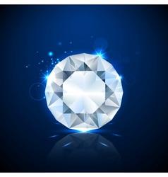 Shiny sparkling Diamond vector image