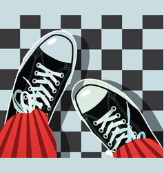 sneakers - athletic shoes vector image