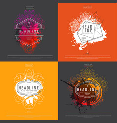 splash label set vector image