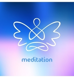 symbol of yoga meditation spirituality vector image