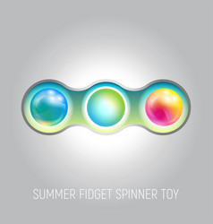 Two blades fidget spinner toy vector