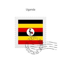 Uganda flag postage stamp vector