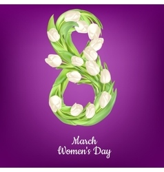 Womens Day greeting card EPS 10 vector image vector image